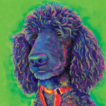 Poodle Custom Painting green