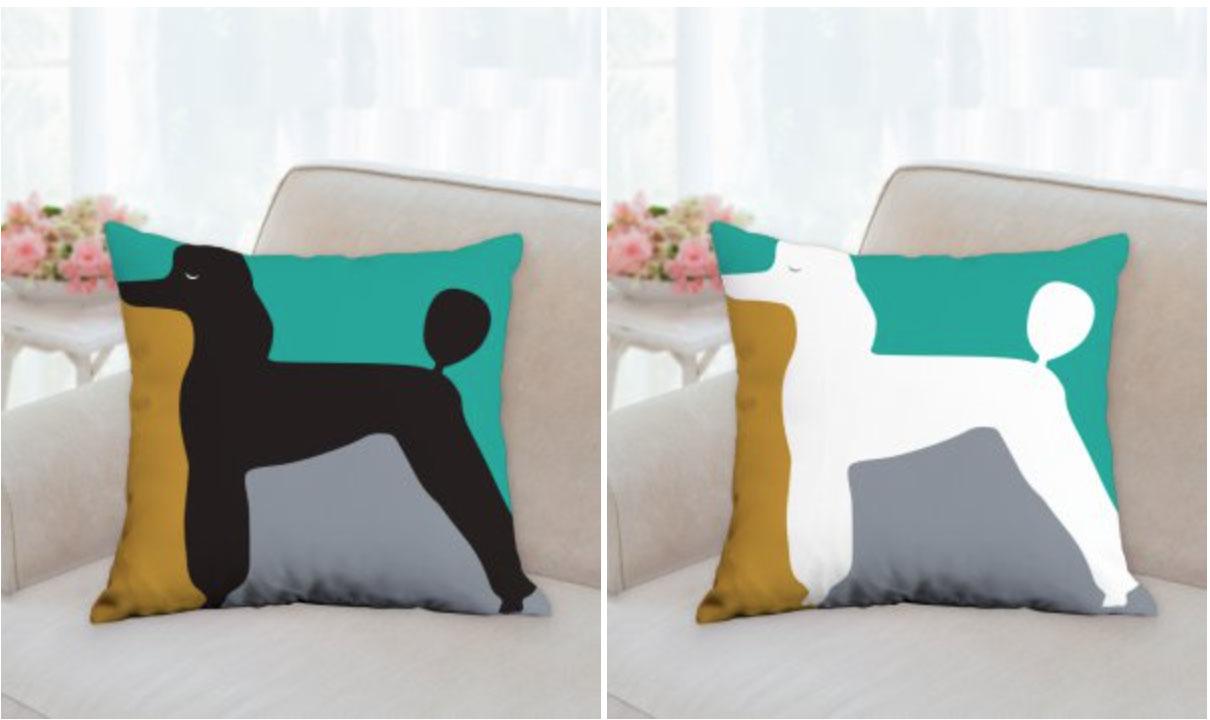 Designer poodle pillows