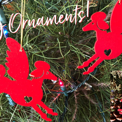 Poodle Holiday Ornaments Photo